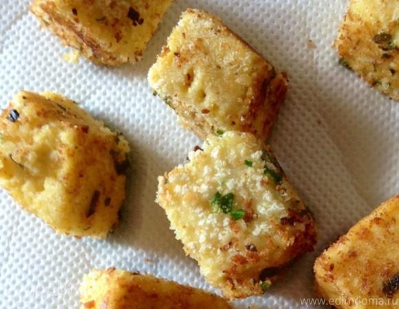 Закуска из поленты с козьим сыром и ароматными травами