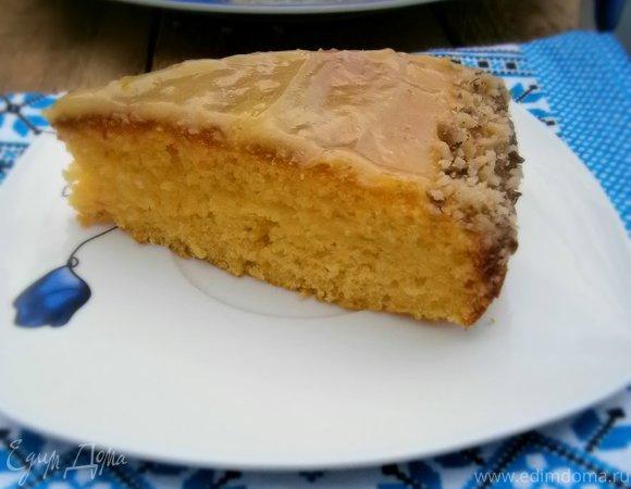 Кабачково-морковный пирог с лимонным кремом