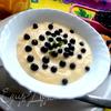 Крем-десерт с черникой