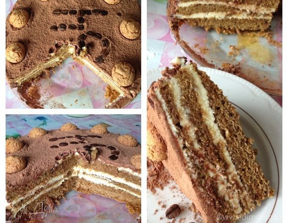 """Торт """"Амаретти"""" с заварным сметанным кремом"""