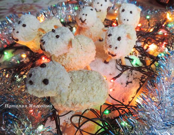 """Пирожное """"Новогодние овечки"""""""