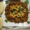 Маленькие котлеты из индейки с баклажаном (Zaalouk avec kefta)