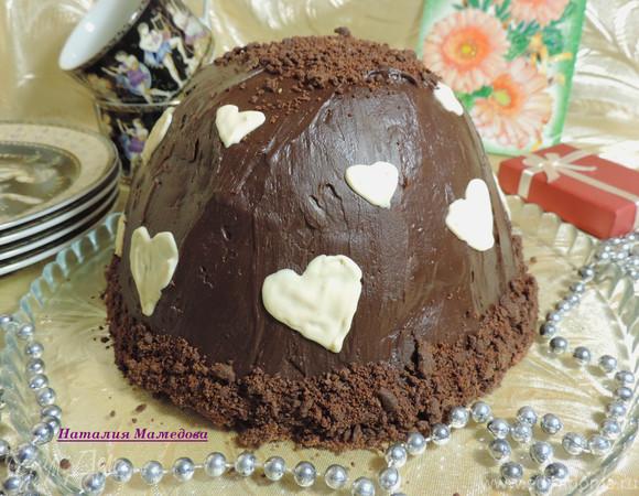 Цукотто (торт-купол) с апельсиновым и шоколадным муссами