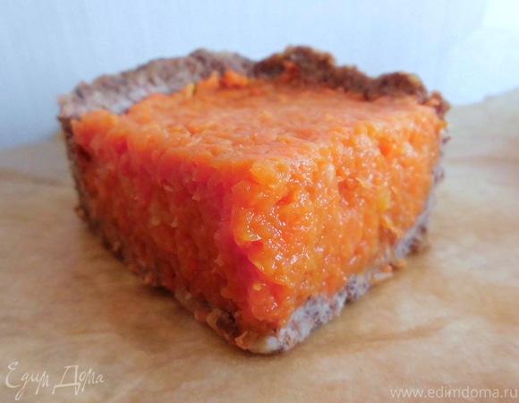 Морковный пирог без выпечки