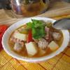 Густой чечевичный суп с фрикадельками и беконом