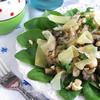 Теплый грибной салат с фундуком и пармезаном