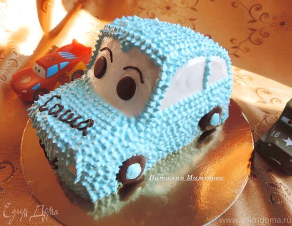 """Торт """"Веселая машинка"""" (МК по оформлению)"""