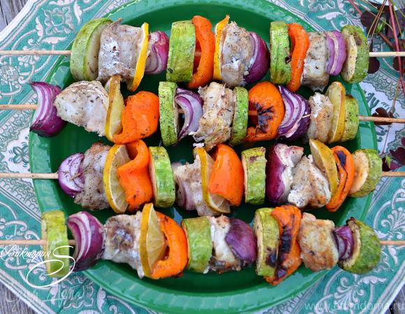 Сицилийские шашлычки из овощей и трески