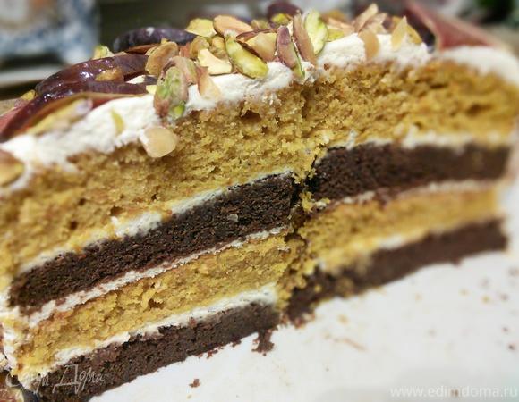"""Осенний торт """"Карета для золушки"""""""