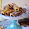 Хлебные трубочки с орехово-шоколадной начинкой