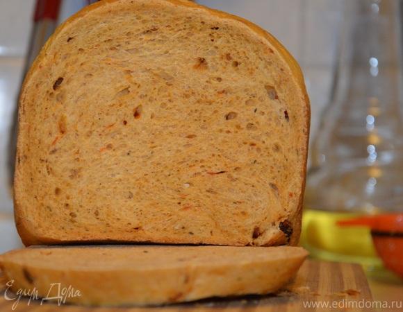 Хлеб пшеничный с тыквой на сухарики (быстрый рецепт)