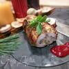 Седло кролика, фаршированное ароматным рисом