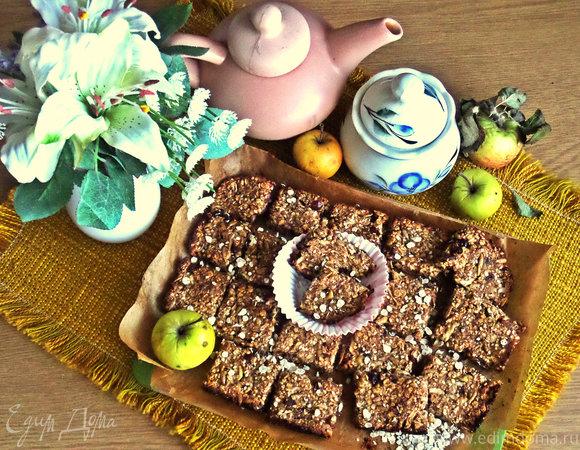 Овсяные батончики с бананом, яблоком и имбирём