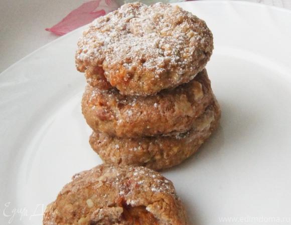 Ржаное печенье с курагой