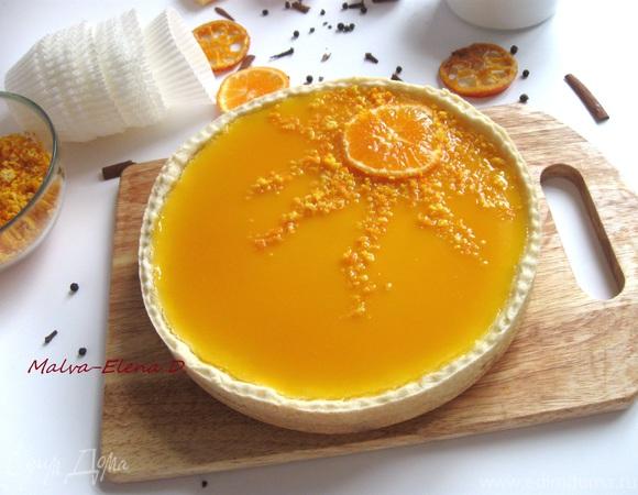 Творожный тарт с мандариновым соусом