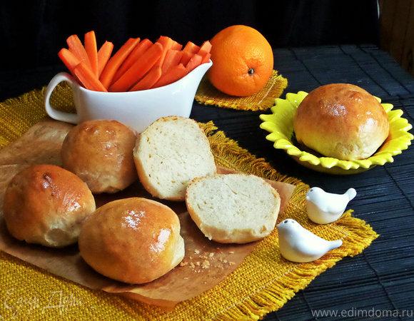 Булки бутербродные на морковном отваре