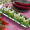 Закусочные фаршированные огурцы «Свечи»