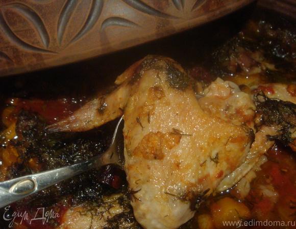 Рагу из куриных крылышек