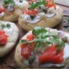 Пицетты с лососем