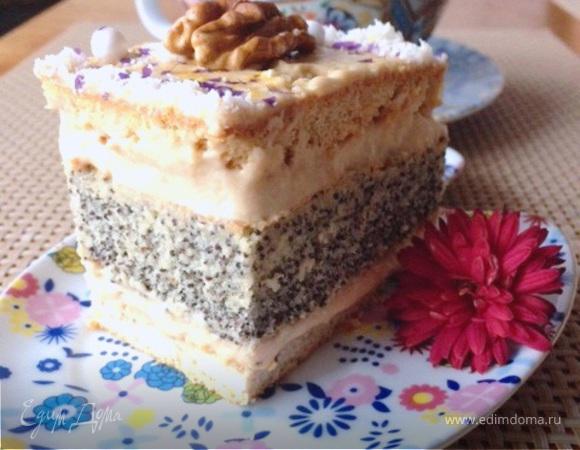 Пирожные маковые с кофейным кремом