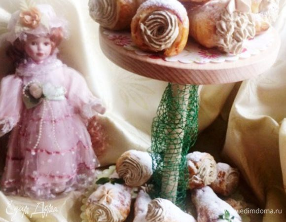 Пирожные «Трубочки с халвой»