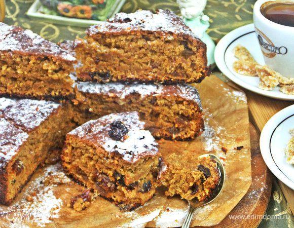 Пирог на арахисовой пасте (постный)