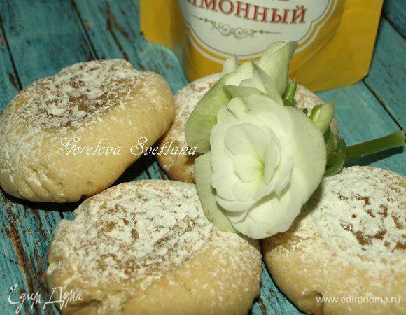 Песочное печенье с лимонным джемом