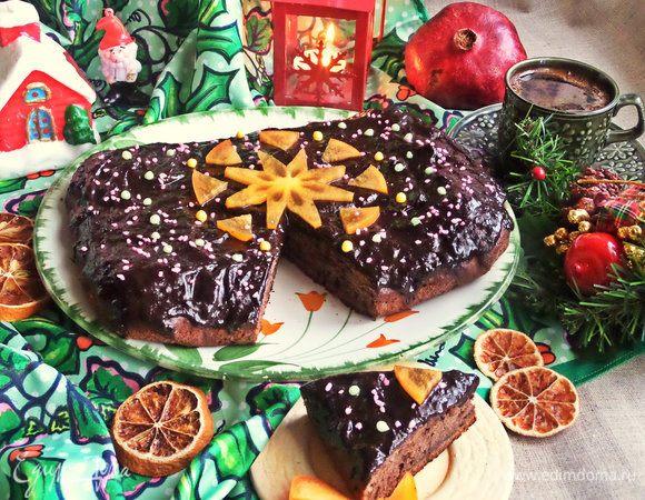 Шоколадный пирог с бананами