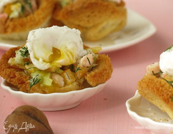 Тарталетки с яйцом пашот
