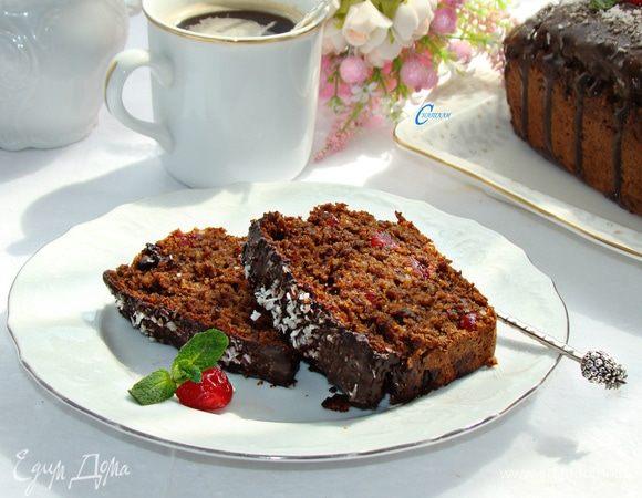 Свекольный кекс с вишней