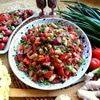 Фасоль в чесночно-имбирном соусе
