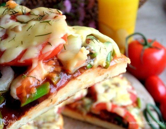 Заливная пицца в сковороде