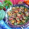 Салат из помидоров с кунжутом
