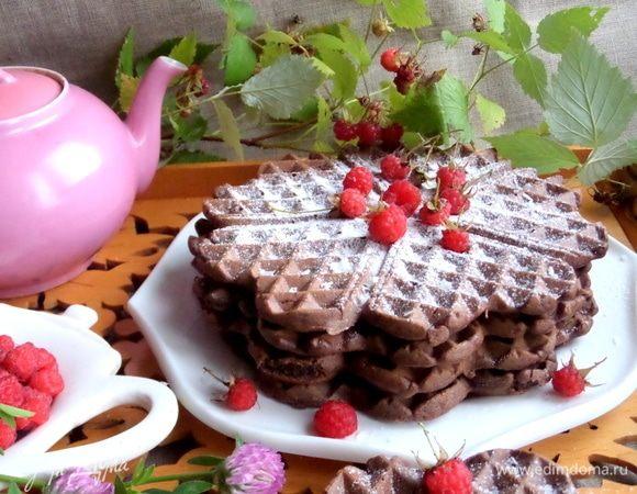 Шоколадные вафли с кокосом