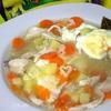 Детский суп с яйцом