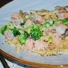 Фузилли с рыбой и брокколи