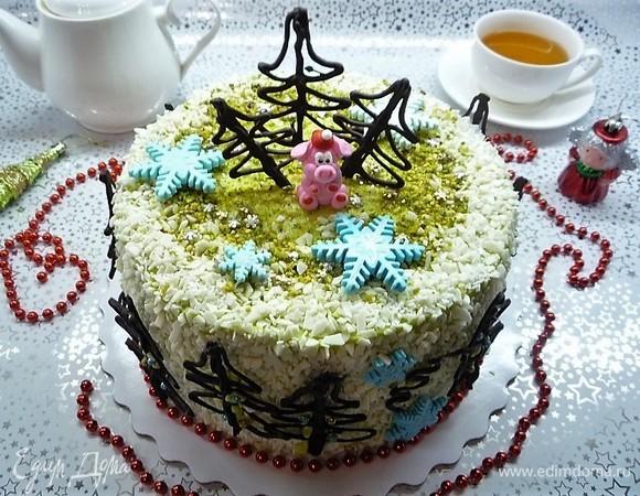 Торт шпинатный с профитролями