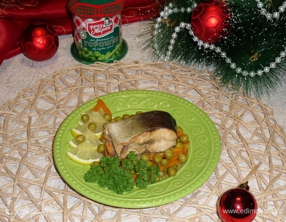 Запеченная горбуша с овощами