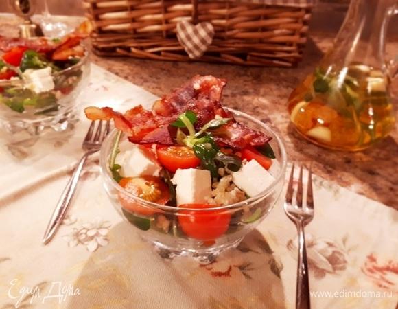 Теплый салат с булгуром