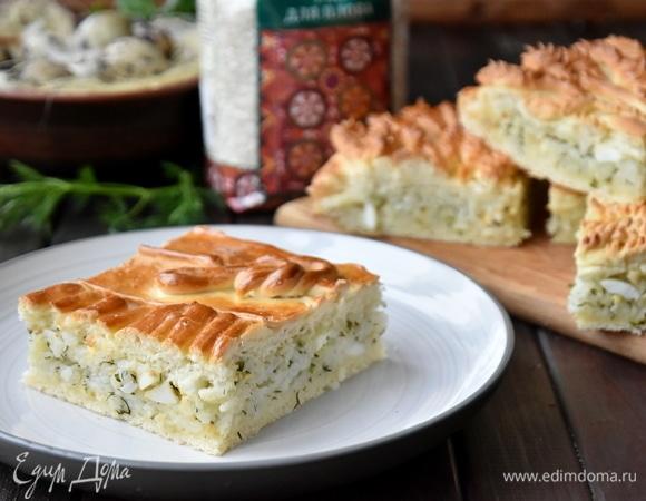 Пирог «Националь» с рисовой начинкой