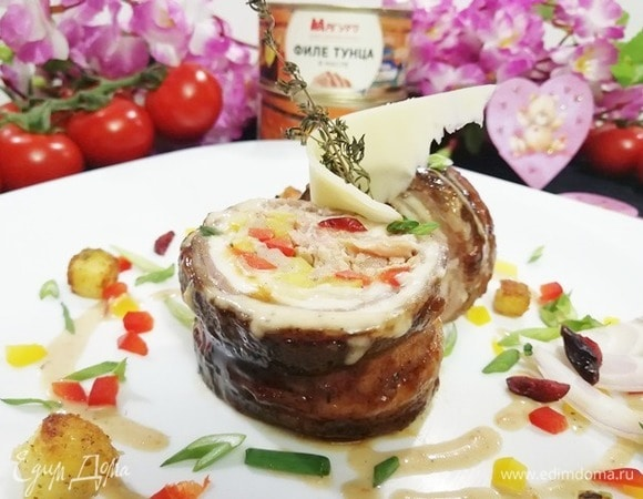 Рулет из говядины и тунца