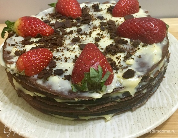 Шоколадный песочный торт