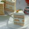 Закусочный «Наполеон» с профитролями и красной икрой