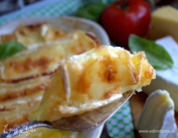 Картофельный гратен под сырной корочкой