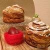Маковый кулич-краффин с карамелизированными яблоками