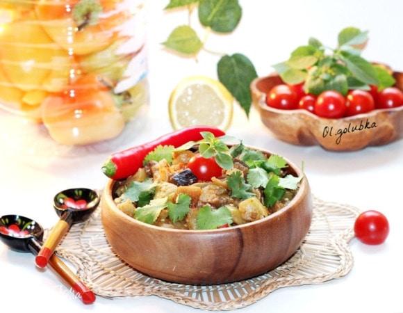 Овощное рагу с перцем чили