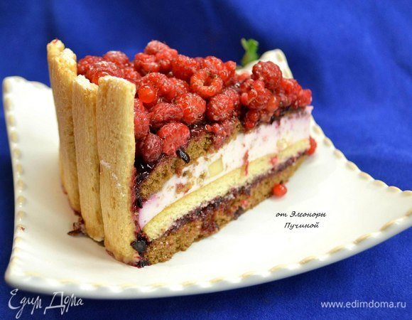 Торт «Малиновое наслаждение»