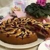 Сливовый заливной пирог