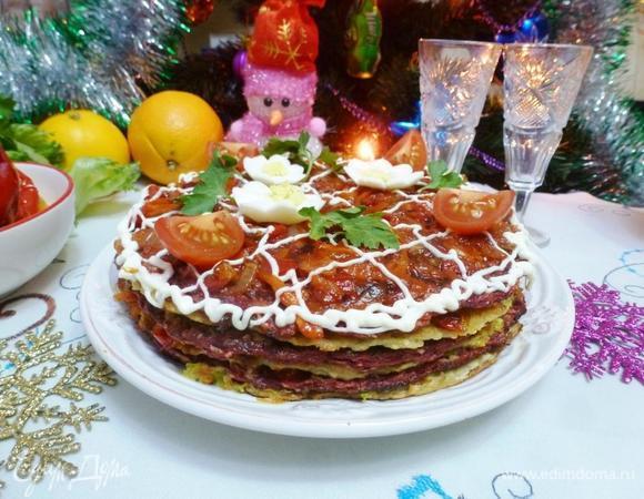 Закусочный торт «Овощной переполох»