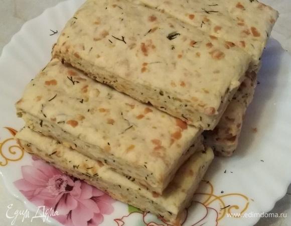Сырные слойки с укропом
